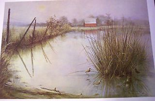 GENTLE MIST PRINT by Ben Hampton w/ Folder~ #593/1000 14.5​ x 20