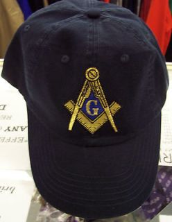 NEW* MASONIC / MASON PRINCE HALL SQUARE AND COMPASS UNSTRUCTURED HAT