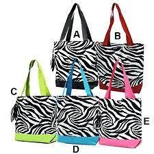 personalized zebra tote bag  15 00 0