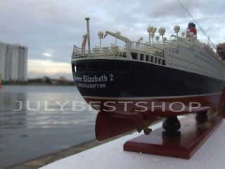 Queen Elizabeth Mary 2 Hand crafted model wooden ship, classic model