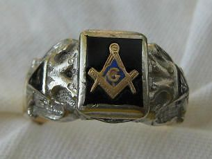 vintage gothic 32 degree masonic ring 10kt gold