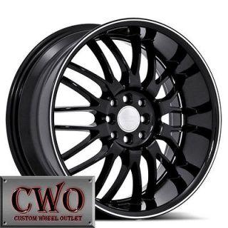 17 Black Ruff R951 Wheels Rims 5x100/5x114.3 5 Lug Jetta Altima Maxima