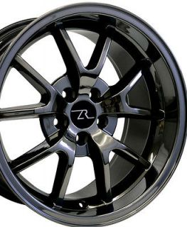 Black Chrome Mustang ® FR500 Wheels 18x9 & 18x10 Rims 18 Inch Deep
