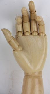 mannequin hand vintage old screw on body part wood tone