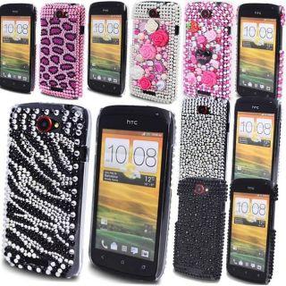 FOR HTC ONE S LUXURY DIAMOND BLING GLITTER MOBILE PHONE HARD CASE