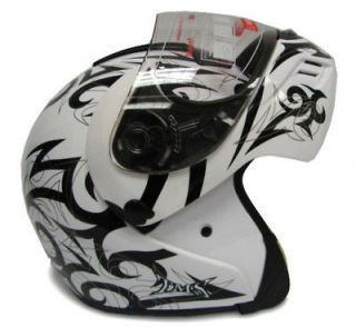 white modular flip up full face motorcycle helmet dot l