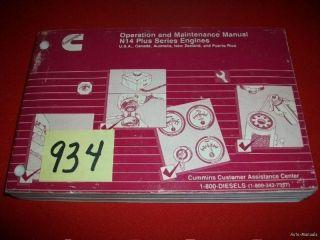 cummins n14 plus series operation maintenance manual