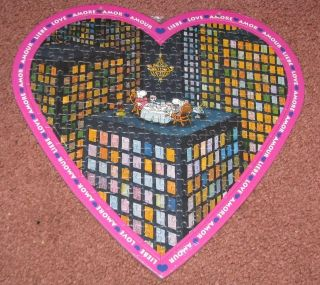 RARE HEYE   MORDILLO 215 pc LOVE PUZZLE Valentines Day*DINING FOR TWO