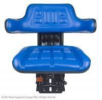 New Universal Tractor Seat w/ Suspension Ford New Holland Blue