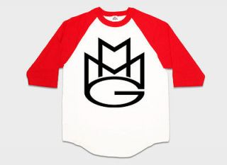 Baseball T shirt MMG Rick Ross Wale Meek Mills Stalley Omarion Red