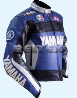 Rossi 46 Tribute Dark Blue Motorcycle Biker CE Leather Jacket Any Size