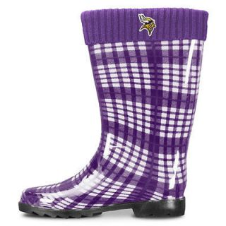 minnesota vikings women s purple rain boots ships within 1 business