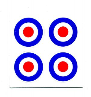 Bulls Eye Target MOD Motorcycle Helmets Car Van Decals Sticker N103