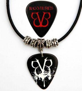 black veil brides black leather necklace plus pick lots more