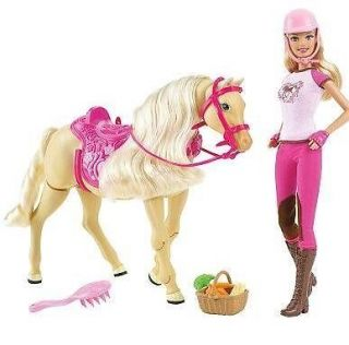 NWT BARBIE TAWNY WALKING HORSE AND DOLL GIFT SET BY MATTEL