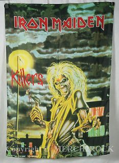 IRON MAIDEN Killers High Quality Silk Like Poster Flag Licensed NEW