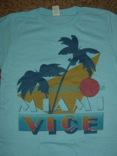 miami vice tv show palm trees t shirt
