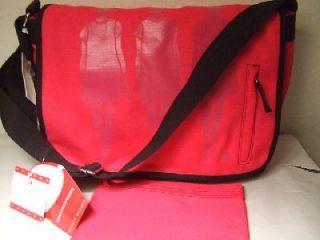 HILFIGER  hot pink & black messenger bag w/ pencil case  NWT backpack