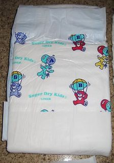 MEDIUM ADULT BABY PLASTIC DISPOSABLE DIAPERS VINTAGE PAMPERS REPLICAS
