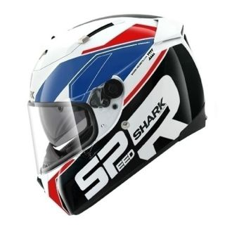 shark speed r sauer red white blue motorcycle helmet more