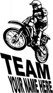 large dirt bike decal for trailer  19