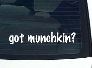 got munchkin cat cats funny decal sticker vinyl wall car