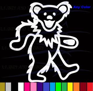 Grateful Dead Dancing Bear Vinyl Sticker Decal Jerry Garcia Car Truck