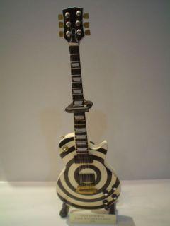 Miniature Guitar (24cm Tall)  OZZY OZBORNE ZAKK WYLDE LES PAUL