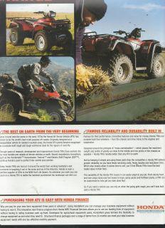 2004 4 pg HONDA ATV RANGE MOTOR BIKES Advertisement/Brochure 4