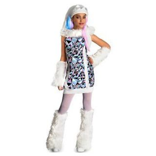 Monster High Abbey Bominable Abby costume S M L dress arm leg warmers