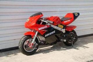 red kids 47cc mini moto ninja pocket bike motorcycle 2 hp stroke gas