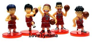 Japan anime Slam Dunk pvc action figures toy doll set of 5 pieces set