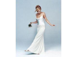 NWT Nicole Miller EA0008 SILK wedding dress bridal gown Ivory size 16