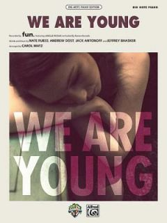 We Are Young Big Note Piano, Sheet by Alfred Publishing Staff 2012