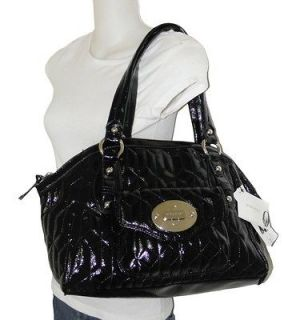 NEW NINE WEST BLACK QUILTED LOTS OF LOCK SHOPPER TOTE LARGE BAG
