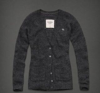 Abercrombie & Fitch Womens Gray Caroline Cardigan Sweater NWT Large L
