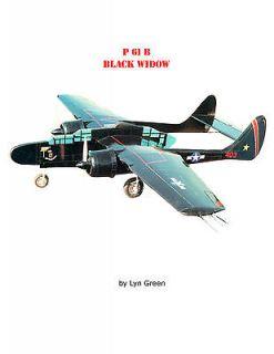 MODEL AIRPLANE PLANS P 61 BLACK WIDOW PROFILE PLAN & BUILDING NOTES