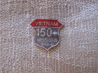 vietnam war patch us air force 150 missions b 52d