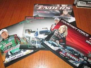 NHRA TEAM FORCE 2012 HERO CARDS JOHN & COURTNEY FORCE, MIKE NEFF