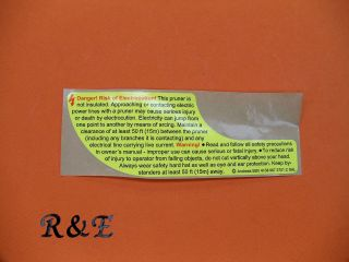 STIHL WARNING INSTRUCTION STICKER DECAL HT 56 70 73 75 100 101 130 131
