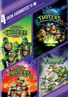 Teenage Mutant Ninja Turtles Collection 4 Film Favorites DVD, 2010, 2