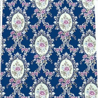 sheets of Dolls House 1/12 Wallpaper blue floral quality paper 124b
