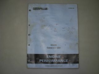 G3406,G3408,G3​412 Natural Gas Generator Engines Performance Manual