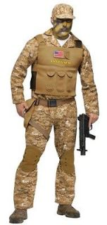 Adult Navy Seal Team 6 Halloween Costume Outfit Uniform Standard Size