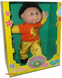 Cabbage Patch Kids 14 Doll   ATHLETE   ASIAN WITH BLACK HAIR & BROWN