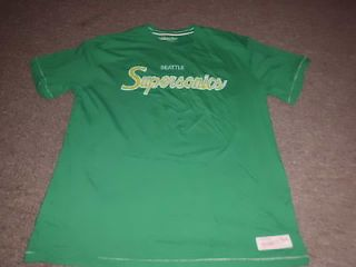 MITCHELL & NESS NBA RETRO SEATTLE SUPERSONICS T SHIRT SIZE S