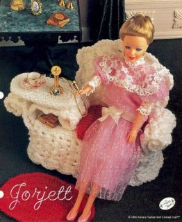 wicker gossip bench crochet patterns fit barbie dolls time left