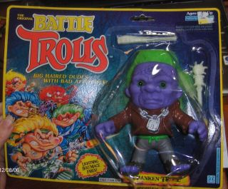 The Original Battle Trolls Franken Troll Doll Toy PVC Action Figure