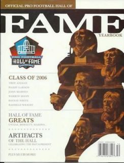 2006 NFL HALL OF FAME PROGRAM~PRO FOOTBALL HALL OF FAME~HOF~AIKMA​N