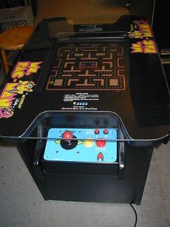 pacman ms pac man galaga cocktail table video arcade game